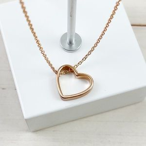 🆕 Dainty Gold Open Heart Charm Necklace